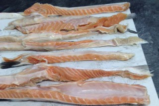 Salmon belly flaps from Wedge Fish Limited